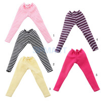 Wholesale dolls clothes bjd - 1 6 Stripe Leggings Tights Pants for BJD Blythe Dolls Clothes