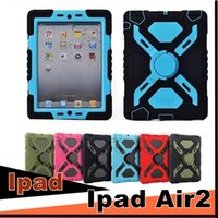 Wholesale ipad air water proof case - DHL Pepkoo Defender Military Spider Stand Water dirt shock Proof Case Cover Ipad 2 3 4 iPad Air 5 iPad Mini