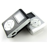 Wholesale mini clip sports mp3 player - Mini Clip MP3 Support Micro TF SD Slot With Earphone and USB Cable Portable MP3 Music Players