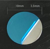suporte de folhas venda por atacado-Haobuy Universal Ultra Fino Superfície Do Espelho Rodada Placa De Disco Magnético Folha De Ferro Para O Carro Montar Titular Estande Do Telefone Ímã
