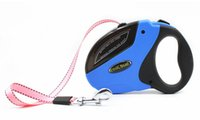 Wholesale retractable dog leash large - Retractable Dog Walking Leash with Break&Lock Button 16ft Nylon Ribbon for Small Medium Large Dogs