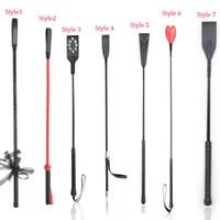 jouets pour adultes achat en gros de-Vente chaude PU Cuir Fessée Paddle Whip Ensemble, Riding Crop Sexy Whip, Esclave Flogger Spanker, Jouets Adultes Pour Couple Flirt Jouets