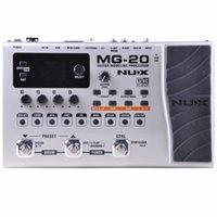 wah gitarreneffektpedal groihandel-NUX MG-20 Multieffekt-Gitarrenprozessor mit Wah-Wah Volume Expression Pedal 60 Effekte 72 Presets mit Drum Machine
