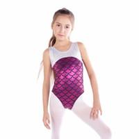 vêtements de ballet filles achat en gros de-New Dance Wear Sans Manches Ballet De Danse Enfants Filles Gymnastique Ballet Danse Porter Tank Body Costumes Haute Qualité