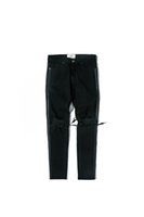 старинный стиль джинсов оптовых-НОВЫЙ РЕТРО ДЕНИМ приталенные мужские дырки в стиле хлопок Джинсовые рваные классические стирки для нанесения старых повреждений рваные дыры черные джинсы M-XXL