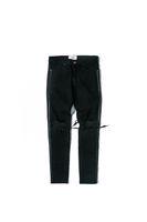 velho estilo jeans venda por atacado-NOVO RETRO DENIM slim fit mens estilo buracos de algodão Denim rasgado Lavagem clássico para fazer o velho dano rasgado buracos jeans preto M-XXL