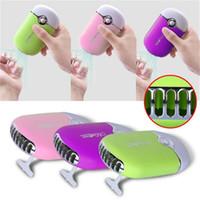 Wholesale w eyelashes resale online - Mini Colors Portable beauty nail art dryer fan fan polish dryer fan for false eyelashes DHL