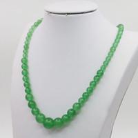 onyx steine perlen halsketten großhandel-Natursteine Runde Perlen Goldstone Onyx Granat Kristall Howlith Azurit Opal Malachit Quarz Halskette 18