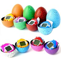 Wholesale plastic egg packaging - Dinosaur Flaw Eggshell Electronic Virtual Game Tumbler Egg Candy Package Box Toy-m15