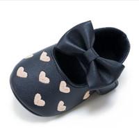 zapatos viejos de goma al por mayor-Envío gratis Rubber 2018 Fashion Baby First walk Peas Infantil bebé zapatos de cuero Niños antideslizantes fondo suave 0-1-2 viejo P