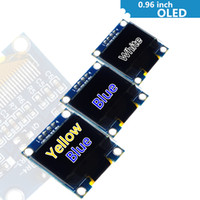 Wholesale arduino i2c modules for sale - Group buy 0 quot white blue yellow blue inch OLED module X64 OLED LCD LED Display Module quot IIC I2C Communicate for arduino