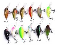 Wholesale trulinoya fishing lures online - Unique D emulational eyes design DW40 mm Trulinoya Bare King Mini Fishing Lure Hard Bait with Hook