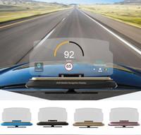 suporte de navegação venda por atacado-Suporte universal da cabeça do suporte de HUD da navegação de GPS do telefone móvel para o suporte de dobramento do suporte esperto do carro do telefone