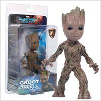 plastik bebek erkekler toptan satış-Toptan Ağaç adam Groot Aksiyon Figürleri plastik Groot doll PVC süsler Bir Kutuda 12 Parça