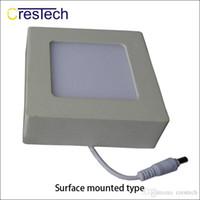 painéis led de escritório venda por atacado-A superfície de 6W 12W 18W 23W montou o tipo downlight da luz de painel do diodo emissor de luz para a luz interna do escritório da sala da cama da cozinha