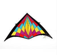 Wholesale kite ship resale online - Outdoor Fun Sports m Power Nylon Diamond Triangle Kite With Kite Kandle And Line Good Flying