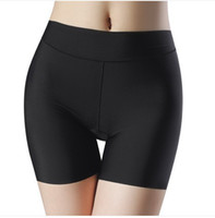 calções de malha jersey venda por atacado-Atacado- MALA TRASEIRA New Fashion Women Verão Ativo Skinny Solid Curto Confortável Sem Costura Shorts Para Mulheres