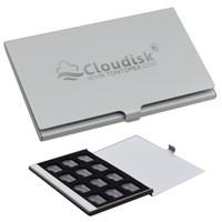 stockage de carte sd achat en gros de-Cloudisk 12pcs / lot 32 Go Carte Micor SD 64 Go 16 Go dans un étui de stockage en métal Cartes mémoire Carte mémoire 1 Go 4 Go 8 Go