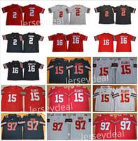 Wholesale Iv S - Men's #16 J.T Barrett IV #2 J.K. Dobbins #15 Elliott #97 Joey Bosa Ohio State Buckeyes College Football Black White Red Limited Jerseys