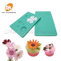 Wholesale silicone embossing mold fondant for sale - Group buy Petal Flower Veiner Mold Sugar Paste Moulds Silicone Mould Leaf Vein Mold Fondant Cake Embossing Cake Decorating Tools Bakeware