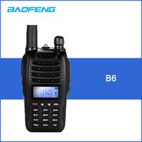 Wholesale uhf receiver - BAOFENG B6 DMR Digital 2-way Radio Walkie Talkie VHF UHF Dual Band Handheld Interphone with LCD FM Radio Receiver with Stand