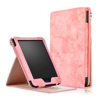 Wholesale clear skin tablets online – custom Funda PU Leather Case Tri folding Smart Cover with Front Holder for Kobo Clara Clear HD quot Tablet Stylus
