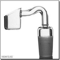 anfang großhandel-ST-757 Hersteller 14mm / 18mm männlich Quartz Banger von Liguid Sci gebogenes Rohr Quarz Nagel für Wasserleitung versandkostenfrei