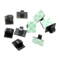 Wholesale black clip ties online - 10 Set Car Wire Tie Cable Mount Clamp Clip Interior Accessories Stowing Tidying Self adhesive Auto Fastener Plastic