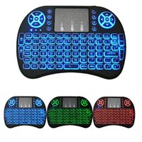 Wholesale Keyboard - Rii I8 Keyboard Backlight Backlit Air Mouse 2.4GHz Wireless Gaming Remote Control for S905W S912 Android TV Box T95 Mxq