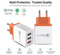 зарядные устройства для мобильных телефонов оптовых-Новое Qc3.0 Быстрое Зарядное Устройство USB Usb Quick Charge 3.0 Multi Usb Зарядное Устройство Мобильного Телефона 3Ports Портативное Быстрое Зарядное Устройство
