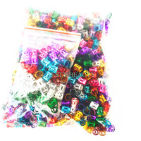 Wholesale for good hair online - 100pc Hair Beads For Dreadlocks Good Hair Braid Cuff Clip Adjustable Hot Red Silver Golden Blue Green Knitting And Crochet Braid Tools