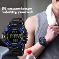 цифровой калорий счетчик шагомер смотреть оптовых-Sport Watches Men Pedometer Heart Rate Monitor Calories Counter Fitness Digital Watch Outdoor SKMEI  Wristwatches