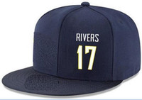 Wholesale river free - Snapback Hats Custom any Player Name Number#17 Rivers Chargers Customized ALL Team caps Accept Custom Made Flat Embroidery Logo or Name
