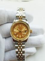 meninas relógios data venda por atacado-2019 novas mulheres assista lady tamanho 26mm data menina presentes safira vidro relógio de pulso mecânico automático movimento inoxidável sólido fecho