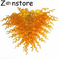 Wholesale Amber Surface - Amber red Glass lighting Chandelier Tiered LED Light Wonderful Hotel Home Decoration Chihully Style Murano Glass Chandelier light fixture
