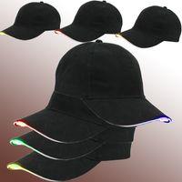 şapkalar led ışıklar yılbaşı toptan satış-Led Şapka, Kolayca Ayarlanabilir Light Up Beyzbol Şapkası Yanıp Sönen Parlak Kadın Erkek Spor Şapka için Hip Hop Parti, koşu, Kamp, Noel