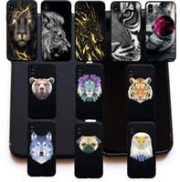 iphone 5s hüllen tierhund großhandel-Kühle geometrische tiere tiger lion bär wolf hund weiche silikon abdeckung case für iphone 6 6 s plus 5 s se 8 7 plus x funda coque cases
