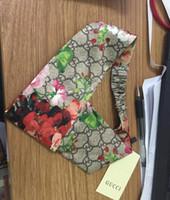 eşarp sıcak kızlar toptan satış-2019 Sıcak 100% Ipek Çapraz Kafa İtalya Marka Kadınlar Için Elastik Saç bantları Eşarp Kız Retro Çiçek Kuş Çiçek Türban Headwraps hediyeler