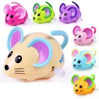 neuheit mäuse spielzeug großhandel-Cartoon Tiere Mäuschen Neuheit Aufwickeln Spielzeug Kinder Lernen Bildung Fähigkeit Training Kette Spielzeug 2 05lh W