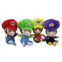 mario hermanos peluches al por mayor-Super Mario juguetes de peluche 2018 nueva Mario Brothers Los animales de peluche 14cm / 5.5 pulgadas de dibujos animados muñecas C4140