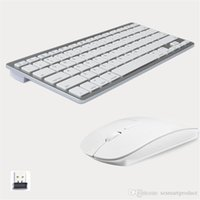 Wholesale wireless computer keyboard mouse - Fashionable Design 2.4G Ultra-Slim Wireless Keyboard and Mouse Combo New Computer Accessories For Apple Mac PC Windows XP Android Tv Box