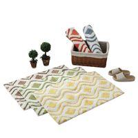 baumwollwebartteppiche großhandel-Persische Reine Farbe Wasser Wellpappe Boden Baumwolle Weben Handwerk Boden Teppich Importiert Baumwolle Stoff Matte Rechteckige Tür