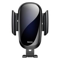 hava yastığı tutucu toptan satış-BASEUS Gelecek Serisi Cam Yüzey Yerçekimi Araba Hava Firar Dağı Tutucu iPhone X 8 Samsung Huawei Cep Telefonu Tutucu Standı