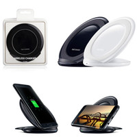 Wholesale Qi Wireless Charger Fast Vertical Charging Pad Charge Dock Cellphone Holder For iPhone Plus iPhone X Samsung Galaxy S7 S8 Note5