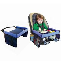 ceinture de voyage pour bébé achat en gros de-5 couleurs bébé bambin voiture ceinture de sécurité voyage jeu plateau étanche table pliante bébé voiture housse de siège poussette harnais C3153