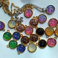 Wholesale gold big hole spacer beads - Nice druzy Design Heart Big Hole Spacer Beads 50pcs lot stainless steel Fit Charm Bracelet Jewelry DIY Metals Loose Beads NMK-1