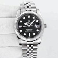 reloj de acero inoxidable aaa al por mayor-En venta 36mm de cuarzo de acero inoxidable marca clásica aaa relojes de lujo para hombre fecha del día hombres se visten reloj de diseño al por mayor de los hombres relojes de pulsera de regalo