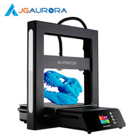 impresoras de cristal de metal al por mayor-Impresora JGAURORA 3D A5S Máquina de impresión 3D mejorada Máquina de impresora de alta precisión extrema con un tamaño de construcción grande de 305 * 305 * 320 mm