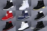 Wholesale Casual Work Boots For Men - Brand New Men Shoes 7 Eyelets 6-Inch Premium Ankle Boots Tims Work Hiking Casual Shoes Winter Snow Boots for Mens Size US 8-13