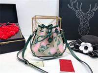 Wholesale leather diaper bag - women bucket bag luxury famous brand handbags shoulder bag good quality leather hardware big capacity diaper shopping bag